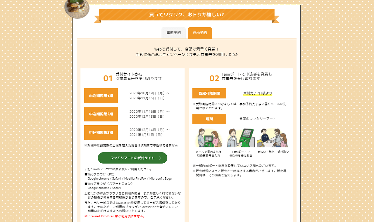 熊本県のGoToイート食事券購入方法